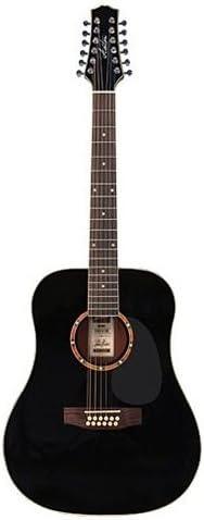 Ashton D25 / 12BK - Guitarra acústica, 12 cuerdas, color negro