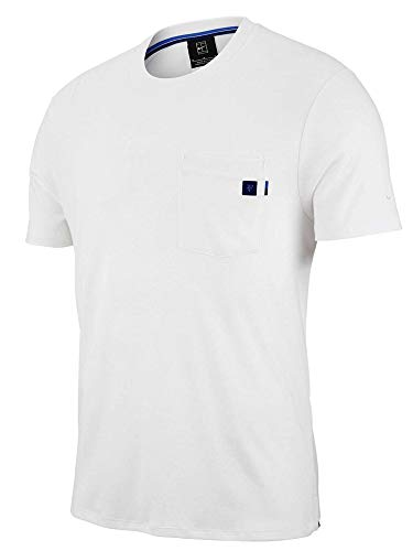 Nike Men's Roger Federer Court Essential Tennis T-Shirt (Large, White/Obsidian/Game Royal) (Roger Federer Shoes Nike)