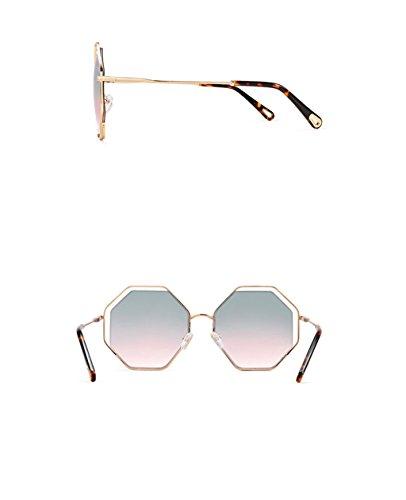 sol Gafas Brillantes señoras la Hueco Gafas de la de sol X666 de C B Personalidad de Color de Lente Gafas Las Marco nqfXBFxfA