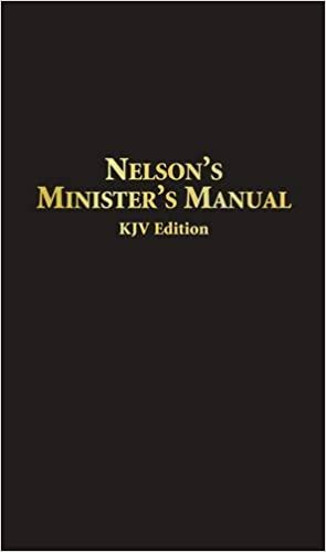 Nelsons Ministers Manual Kjv Bonded Leather Edition Thomas
