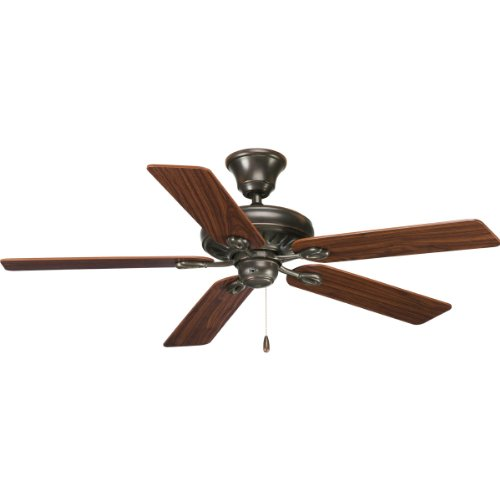 Progress Lighting P2521-20 52-Inch Signature 5-Blade Fan with 153 X 18 Reversible Motor, Antique Bronze (Bronze Antique Cherry)