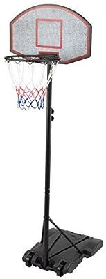 KLB Sport Height Adjustable Youth Portable Basketball Hoop System w/ Wheels, 28 Inch Backboard