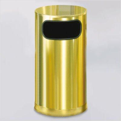 - Waste Receptacle, Side Open, Brass, 12 gal.