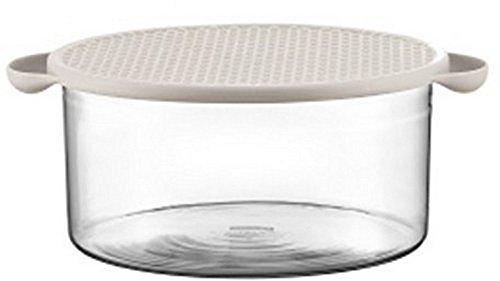 (Bodum 10127-913 Hot Pot Bowl with Lid, 85 oz, White )