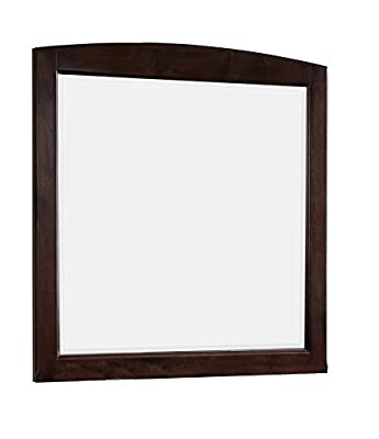 American Imaginations AI-4-1142 Rectangle Wood Framed Mirror without Shelf, 30-Inch x 32-Inch, Walnut Finish