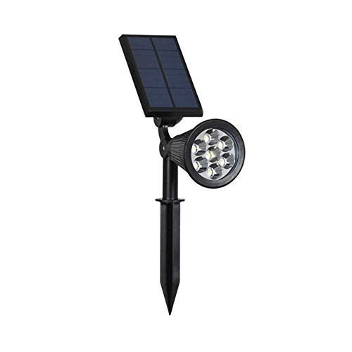 (Solar Lights Outdoor - Waterproof 7 LED Changing Color Solar Spotlight Adjustable Wall Light Landscape Light Bright & Dark Sensing Auto On/Off Solar Garden Light for The Yard Patio Deck Stair Pool)