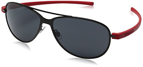 TAG HEUER 66 3982 102 641403 Aviator Sunglasses, Black, 64 mm