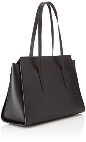 Pollini Damen Bag Schultertasche, Schwarz (Nero), 38x15x27 cm