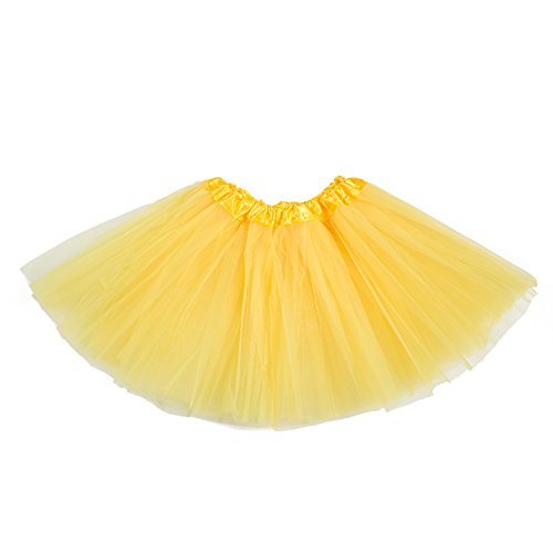 belababy Tutu Skirt for Girls 5 Layers Tulle Tutu 2-8T Yellow -
