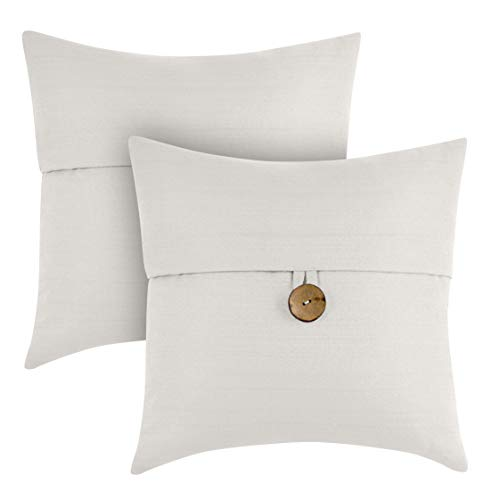 Better Homes & Gardens Feather Filled Banded Button Decorative Throw Pillow, 20