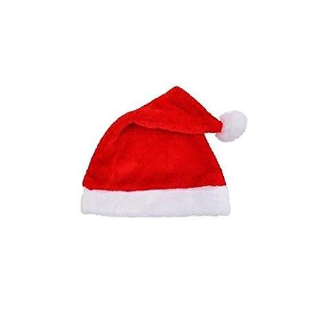 festa di Natale morbido velluto cappello di Babbo Natale rosso e bianco  cappello per costume di 56fc465f5b2f
