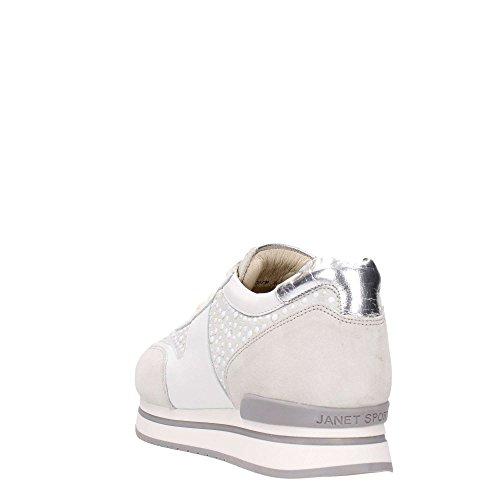 argento Donna Sneakers Janet Sport Bianco 35728 BqFwAYX