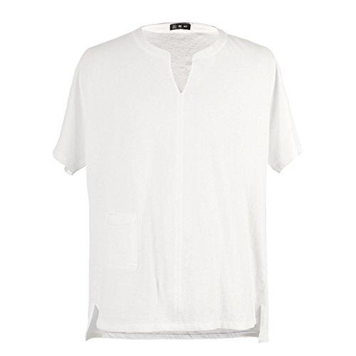 MUSCLE ALIVE Mens Casual Shirts and Pants Set Linen Cotton Size XL White Sets