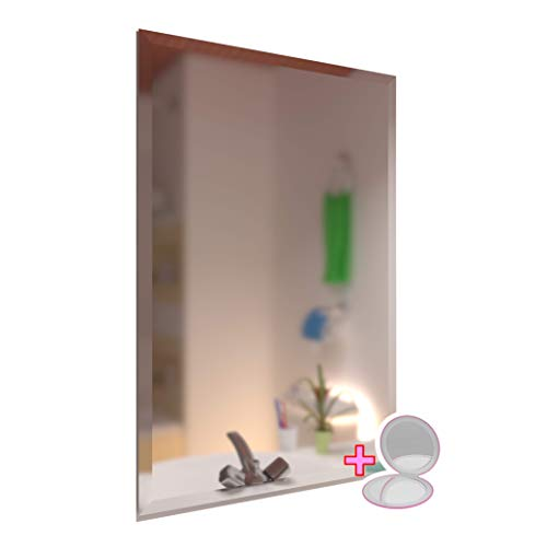 Large Rectangular Frameless Wall Mirror 1 inch Beveled for Bathroom Vanity Bedroom - Large Bathroom Mirrors Unframed