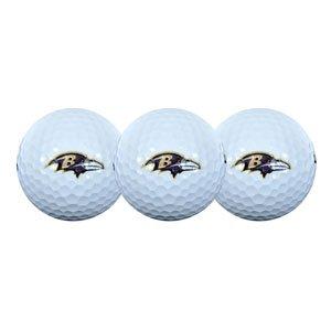 NFL Baltimore Ravens 3-Pack Golf Ball Sleeve, Outdoor Stuffs