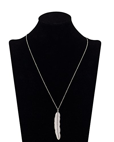 Geerier Pendant Feather Necklace Synthetic