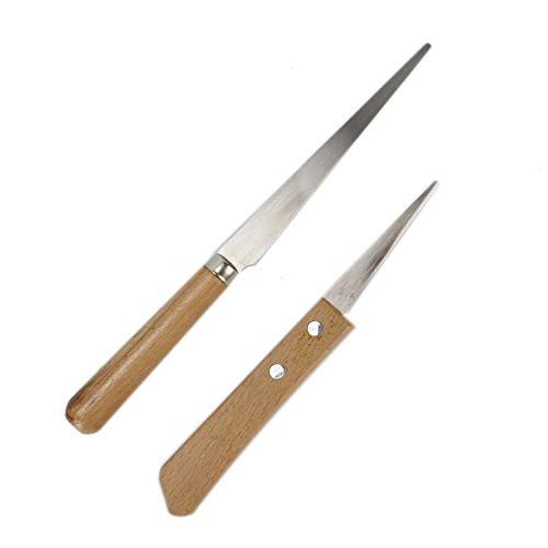 (Buorsa 2 Different Sizes Fettling Knife Handle Craft Art Tools (8.3 Inch & 6.7 Inch))