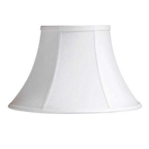 Laura Ashley SNL914 Calais 14-Inch Bell Shade, White