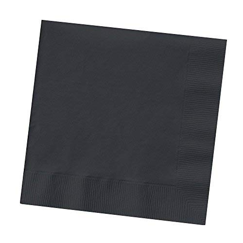 (Set of 2 Creative Converting Touch of Color 200 Count 2-Ply Paper Black Velvet Beverage Napkins bundled by Maven)