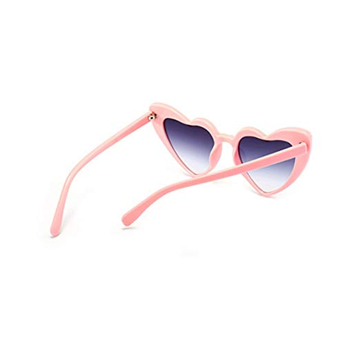 lunettes pour pour forme lunettes protection Mod de rétro adolescents Mode mode de Design coeur femmes soleil de UV filles en soleil lunettes qxTOZI