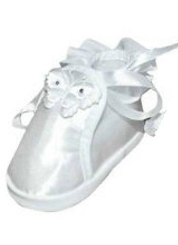 Ikumaal Festlicher Schuh Für Taufe Oder Hochzeit - Taufschuhe Für Baby, Babies, Mädchen, Jungen, Kinder, in Verschiedenen Größen 16-19 Tp05 Weiß