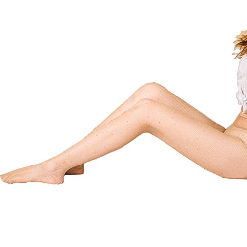 Sparkle Stockings (Women's Fishnet Stockings Rhinestone Socks - Elayce High Waist Tight Sparkle Mesh Thigh High Garter)