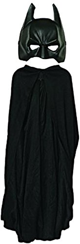 Black Batman Costumes Child (Batman: The Dark Knight Rises: Batman Cape and Mask Set, Child Size (Black))