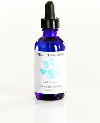 100% Natural Flea and Tick Repellent, Topical Treatment Drops for Dogs, for Flea and Tick Prevention and Control. Spot-On Tick and Flea Medicine Made with All-Natural and Organic Ingredients.