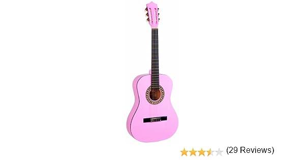 Falcon FL34PK - Guitarra clásica (tilo, tamaño 3/4), color rosa ...