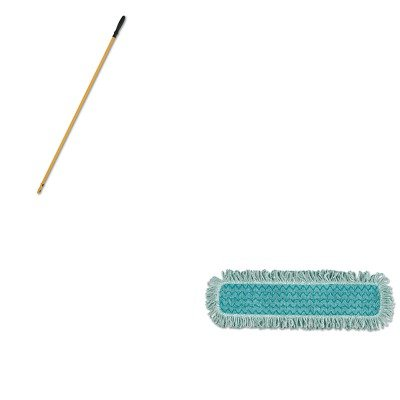 KITRCPQ42600GR00RCPQ750YW - Value Kit - RUBBERMAID COMMERCIAL PROD. HYGEN Microfiber Fringed Dust Mop Pad (RCPQ42600GR00) and Rubbermaid-58quot; Quick Connect Handle Yellow (RCPQ750YW)