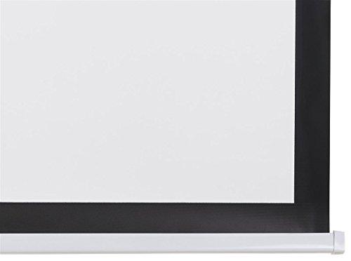 Displays2go, Motorized Projector Screen, Aluminum, Fiberglass, and PVC Construction – Black (PRSELE108) by Displays2go (Image #6)