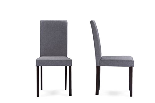 Andrew Contemporary Dining Chairs - Gray  - Baxton Studio