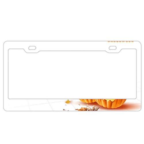 KSLIDS Novelty Metal License Plate Halloween Pumpkin 6