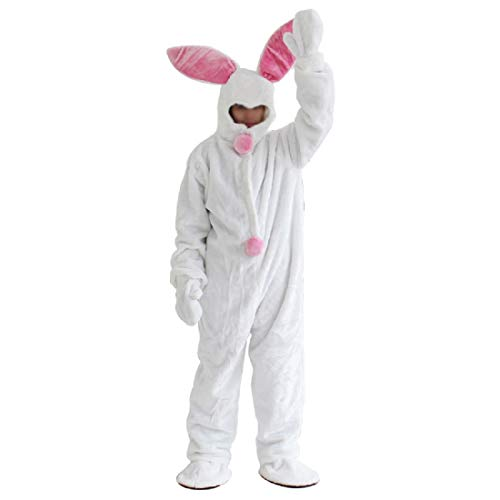 (New Easter Rabbit Mascot Costume Unisex Animal Cosplay Costumes Carnival Party Suit Performance Clothes for Holiday for Adult)