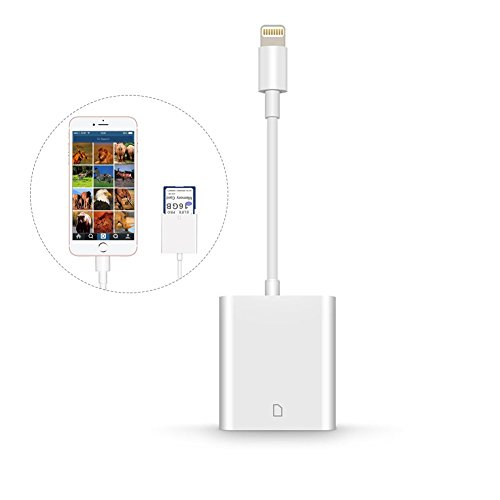 Card Reader, SD Card Reader with Lightning, Trail Game Camera Card Reader Adapter for iPhone/iPad