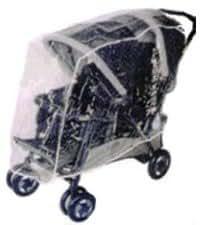 Sasha Kiddie Clavija 5R Peg Perego Duette SW Tender y Doble Tandem Stroller lluvia con cubierta de viento - Cochecito No Incluido