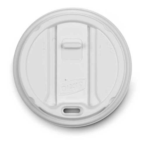 Dixie Smart Top White Reclosable Cup Lid Only -- 1000 per case. by Dixie