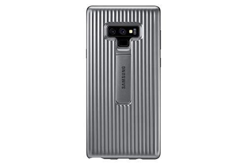 (Samsung Galaxy Note9 Case, Rugged Military Grade Protective Cover with Kickstand, Silver)