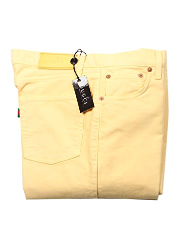 Gucci Men Pants (Gucci CL Yellow Trousers Size 46/30 U.S. In Cotton)