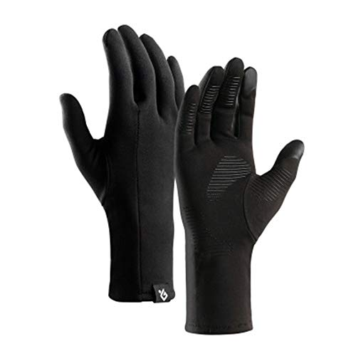 Super explosion Men's Windproof Reflective Ultra Thermal Winter Cycling Bike Gloves with Thick Gel Padding Touch Screen(Black Medium)