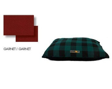 AlphaPooch Softie Rectangular Fabric Dog Bed, Garnet, Extra Large, My Pet Supplies