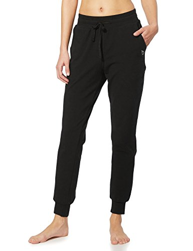 BALEAF Women's Active Yoga Sweatpants Workout Joggers Pants Cotton Lounge Sweat Running Pants with Pockets Black Size M