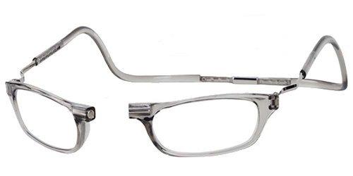 CliC Magnetic Closure Reading Glasses XXL with Adjustable Headband Smoke 1.50