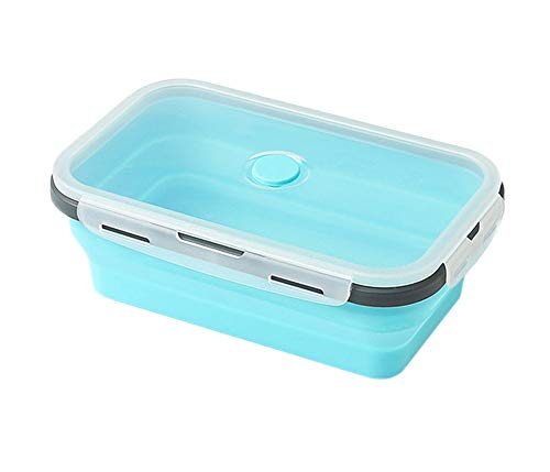 DONG Lunch BoxSilicone Plegable Bento Box Food Storage Box ...
