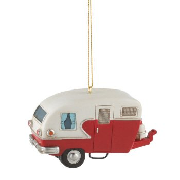 Retro Camper Trailer made our list of the most unique camping Christmas tree ornaments to decorate your RV trailer Christmas tree with whimsical camping themed Christmas ornaments!