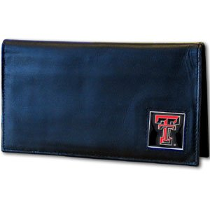 Siskiyou NCAA Texas Tech Red Raiders Leather Checkbook Cover
