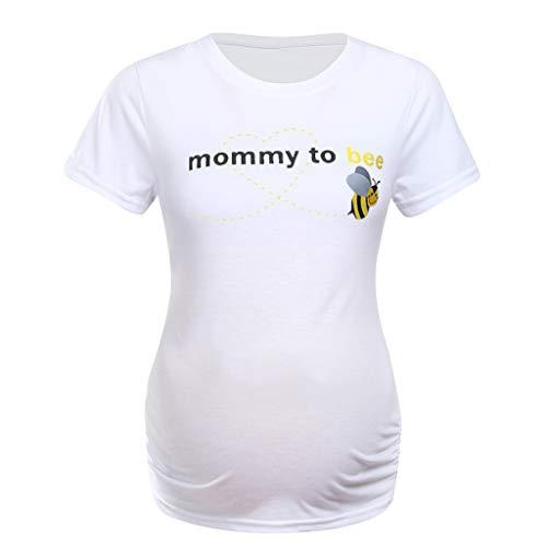 Toponly Women's Maternity Tee Shirt Letter Easter Egg Dinosaur Round Neck Mommy Tops ()