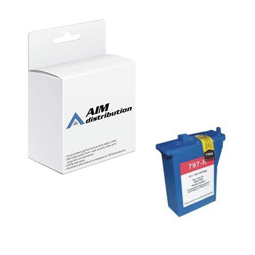 AIM Compatible Replacement for USPS USPK700 Red Postage Meter Inkjet - Compatible to Pitney Bowes 797-0 - Generic