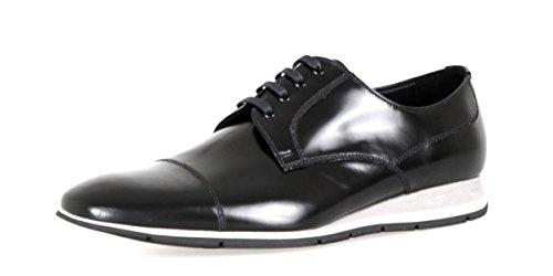 Homme Noir Derby Prada Cuir Lacets Chaussures Classiques à en nnIx8T