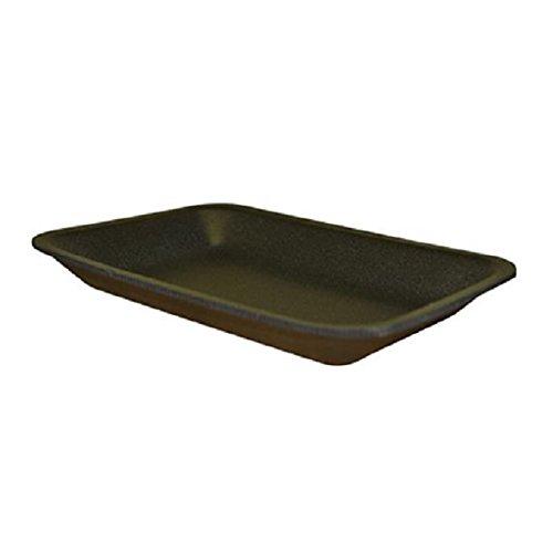 Black Foam Meat Tray - CKF 2BK, 2 Black Foam Meat Trays, Disposable Standard Supermarket Meat Poultry Frozen Food Trays, 100-Piece Bundle